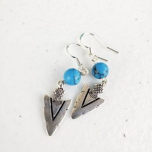 Turquoise Arrowhead Earrings